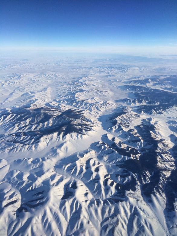 Mongolei - ein Schneemuster